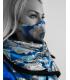 Šál + rúško - modrý brokát