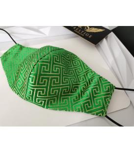 Brokátové rúško - zelené
